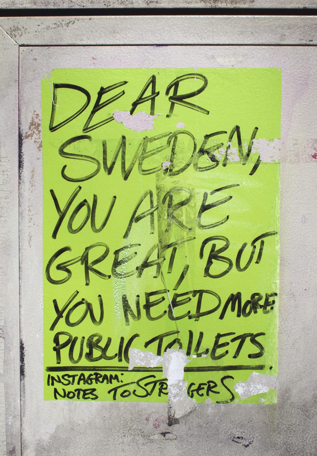 Hand written poster