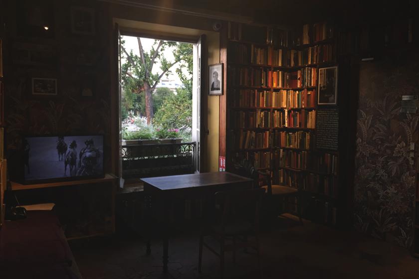 Dark bookshop