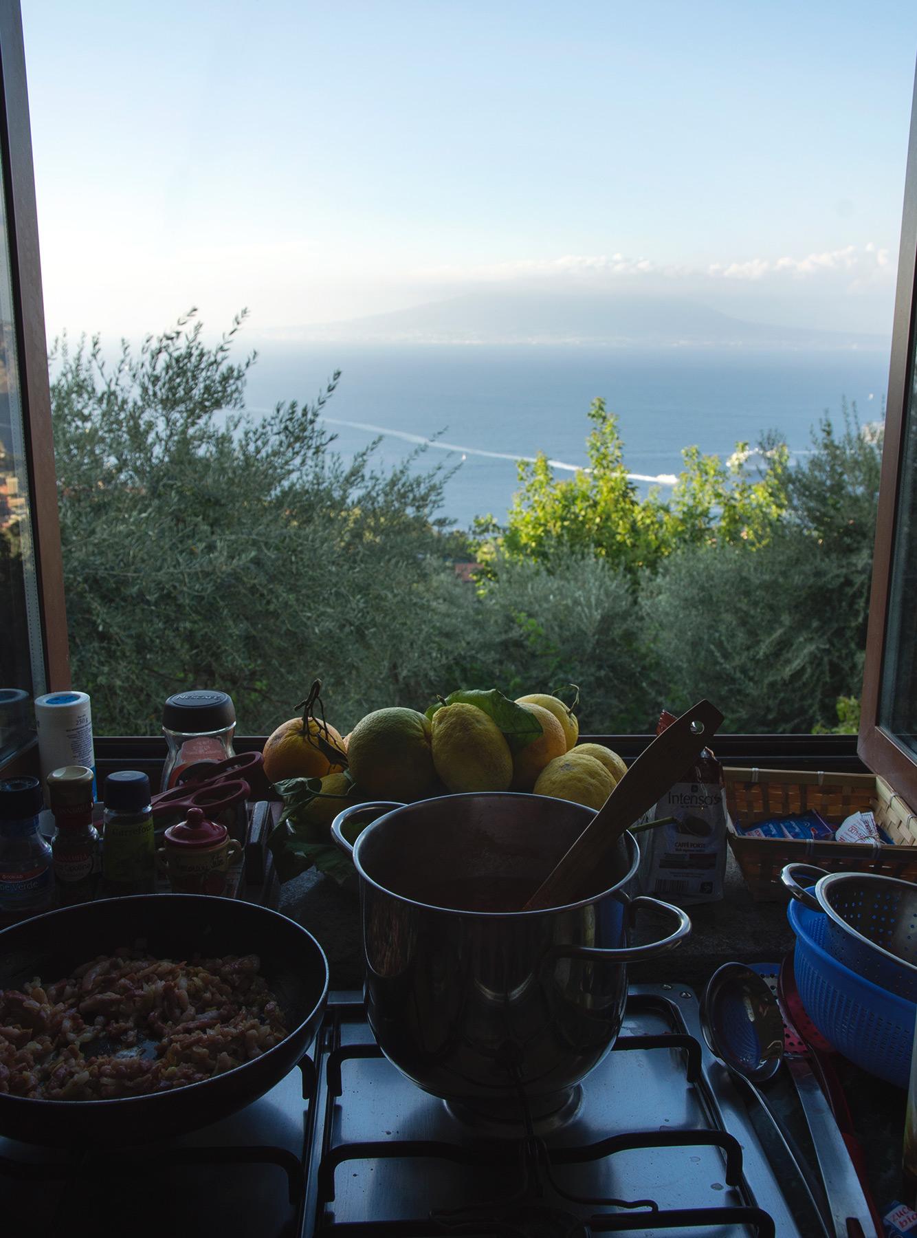 Ocean view from kitchen window