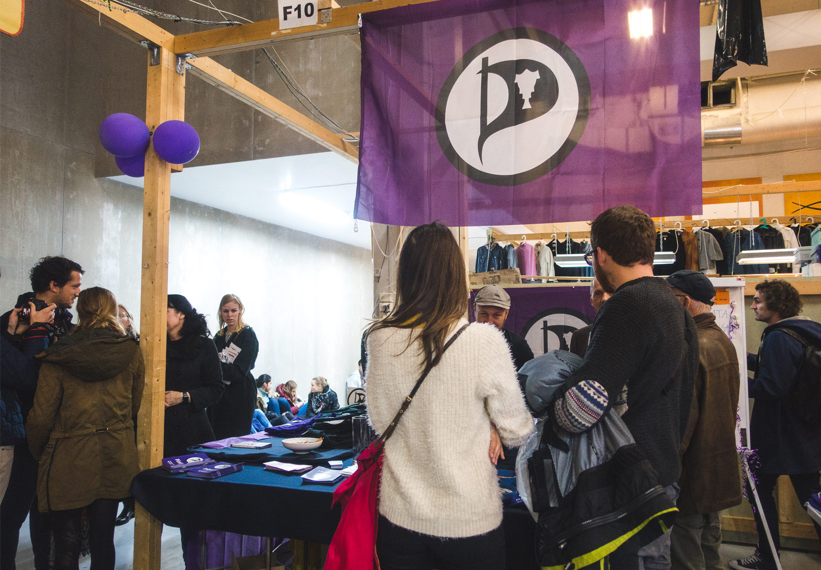 Pirate party booth and flag