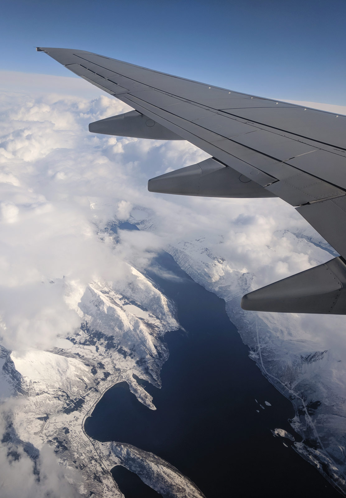 Mountains from plane window