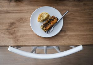 Small plate on table