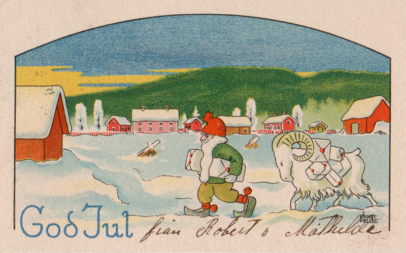 Tomte and goat