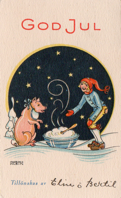 Pig with porridge