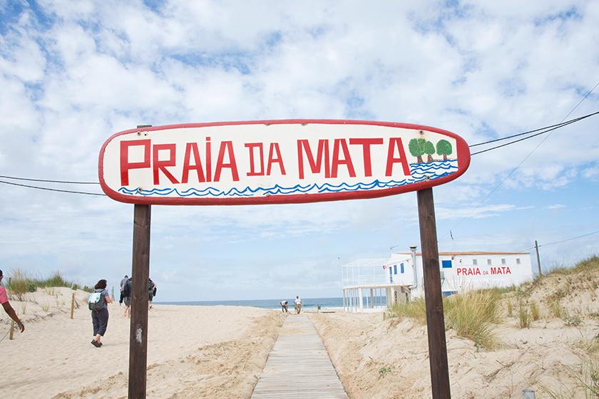 Praia da Mata sign