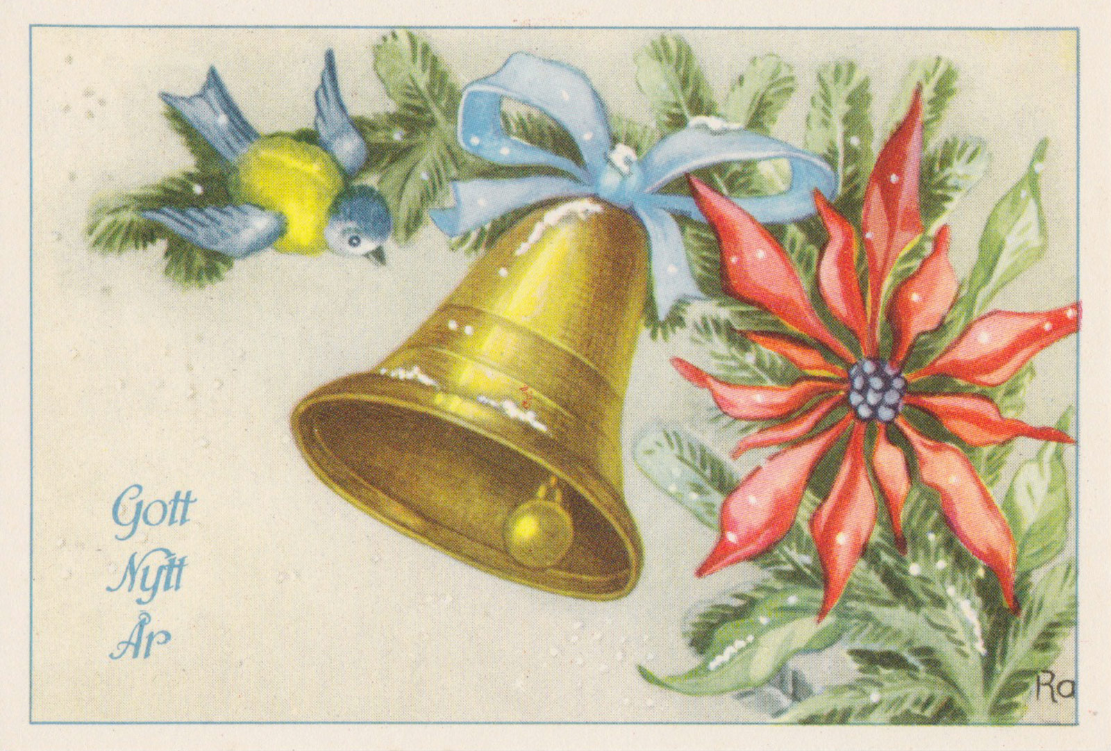 Bell, bird and flower