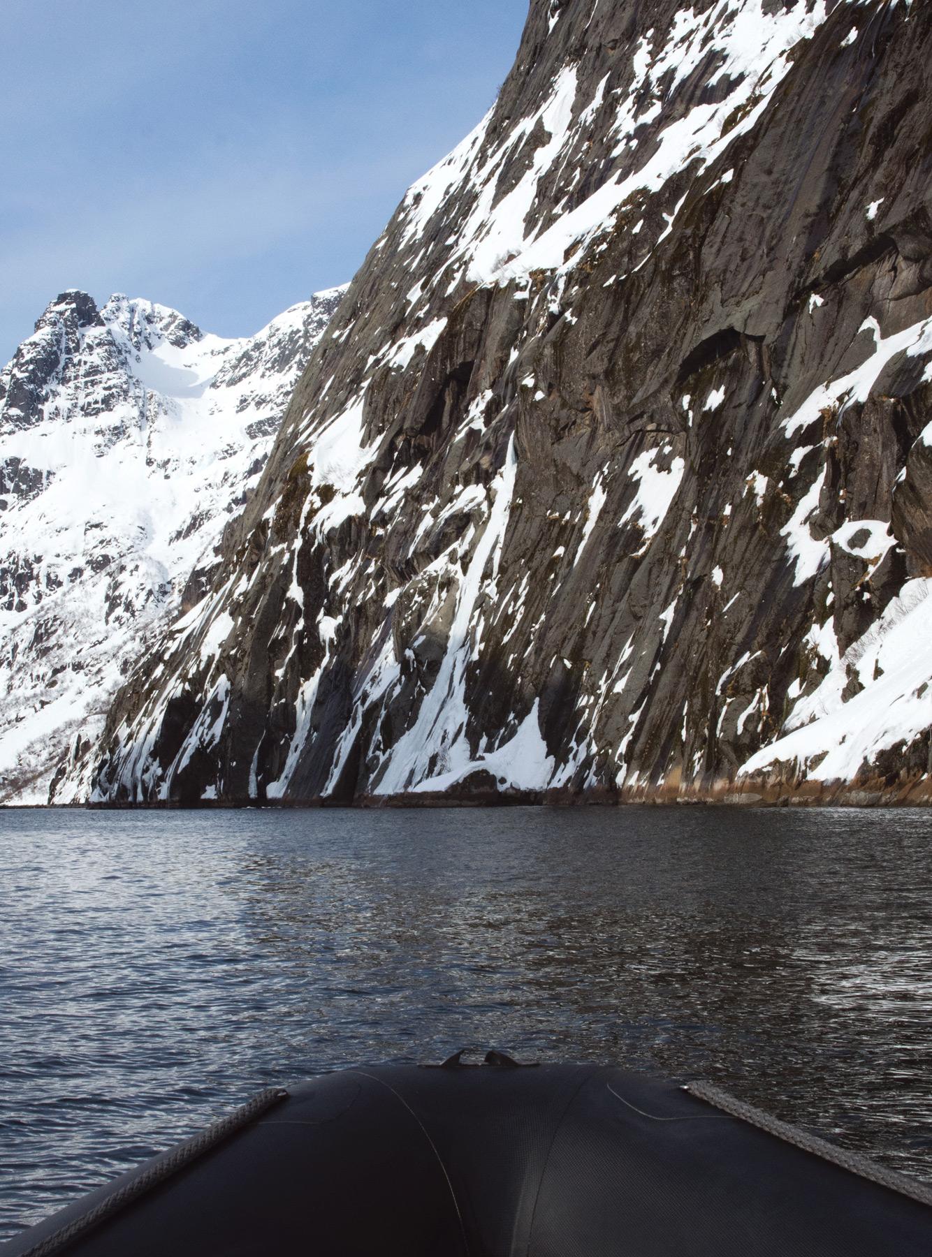 Rocky fjord entrance