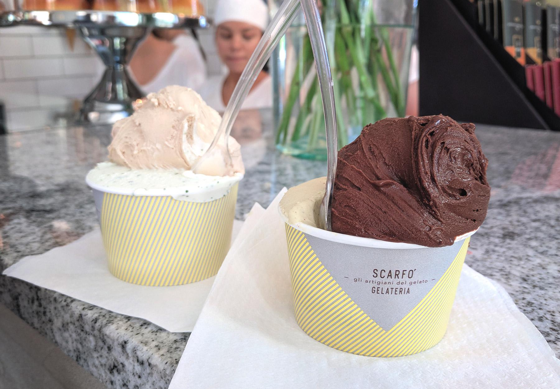 Cups of gelato