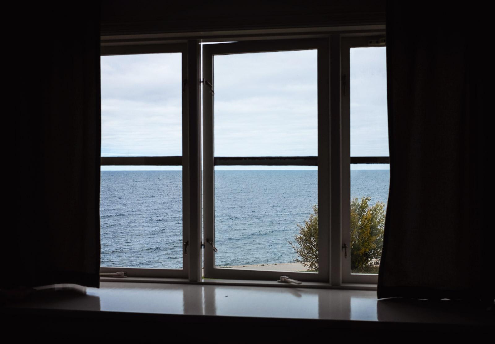 Ocean through window