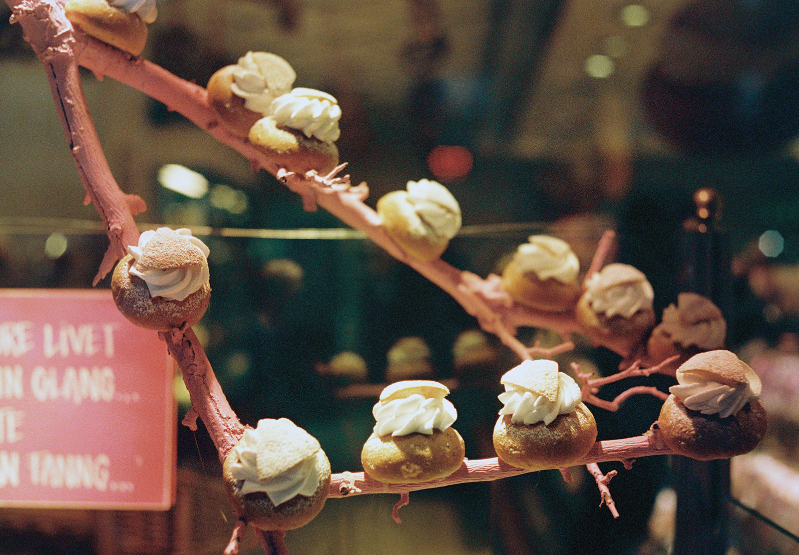 Semla buns on branches