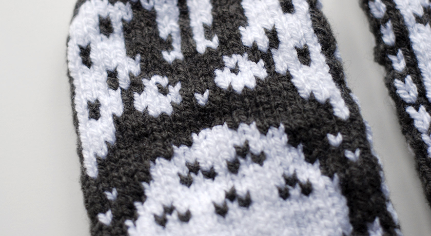Knitted Totoro Mittens