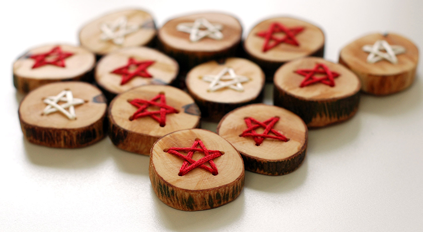 Embroidered Christmas buttons