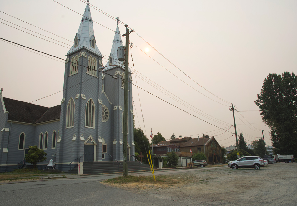 Grey wooden church