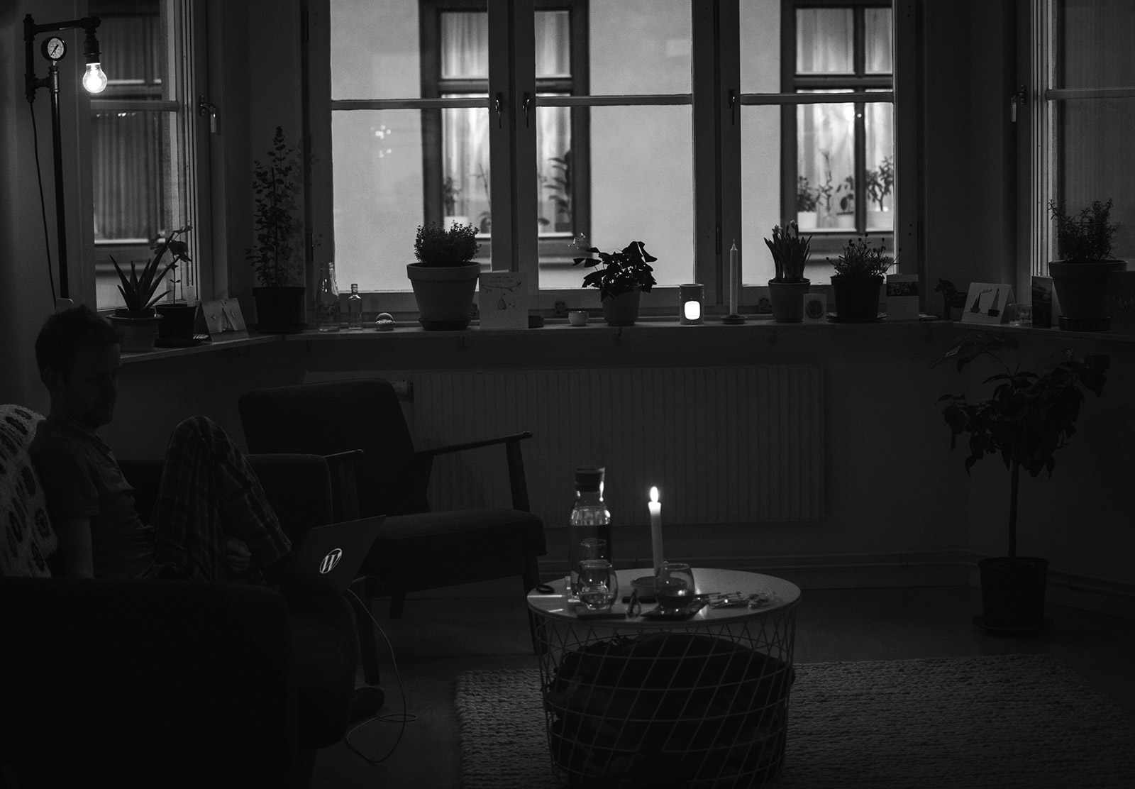 Candles in home