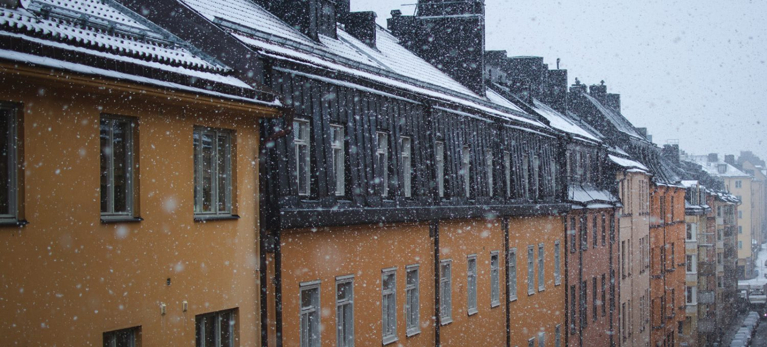 Snow on roofs