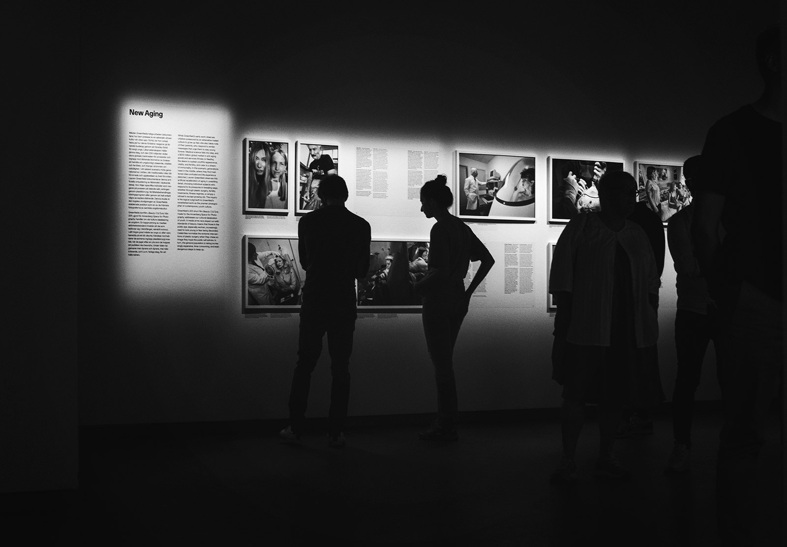 People in photography gallery
