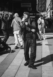 Man dancing with bells