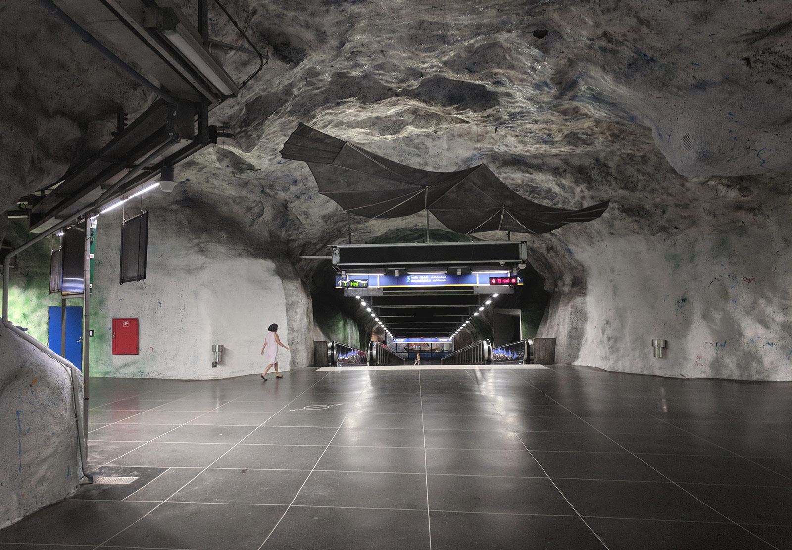 Subway tunnelmade from stone