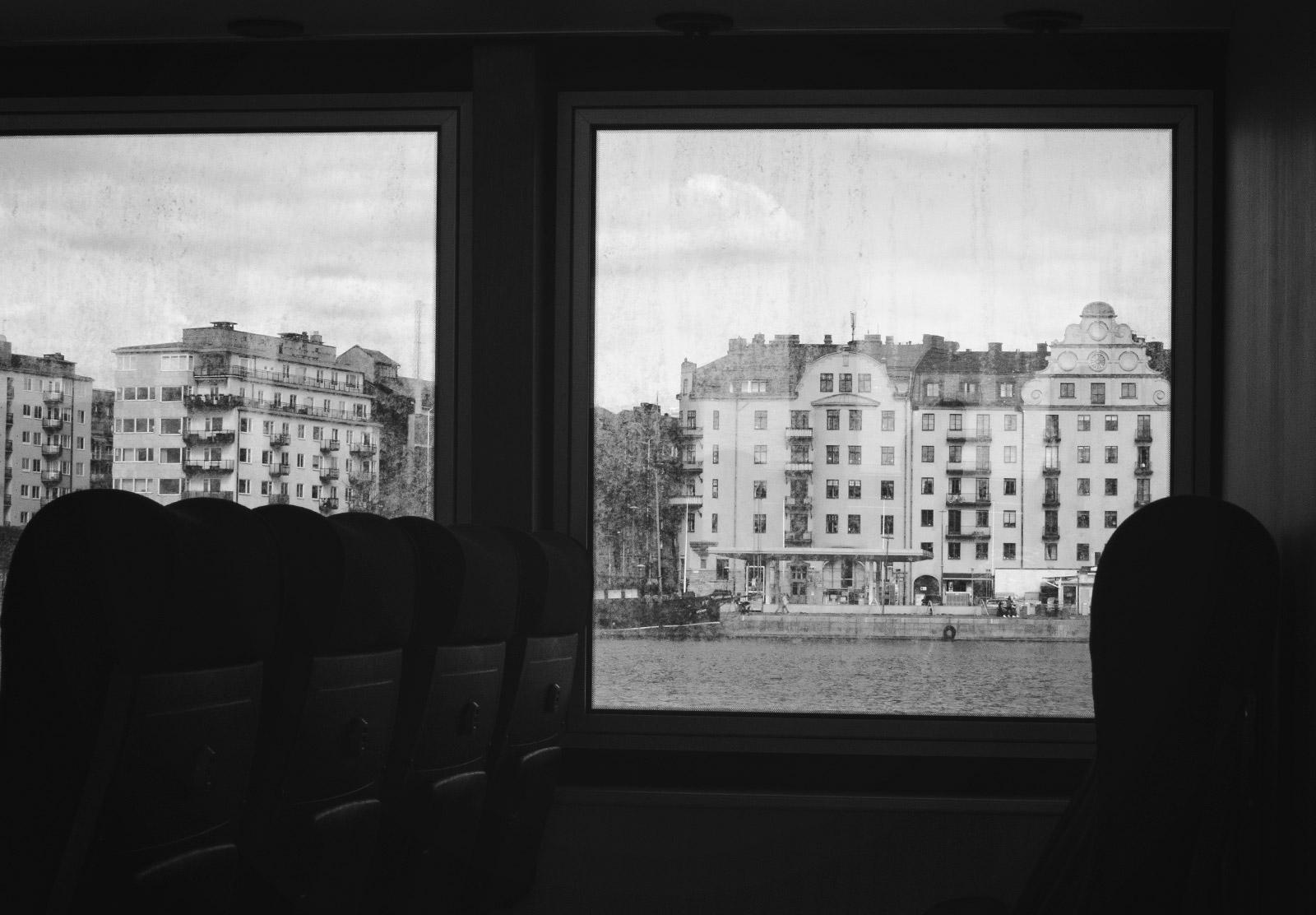 City through a window