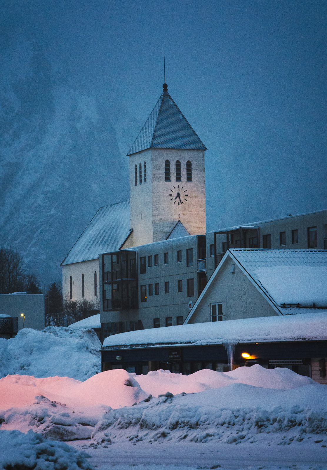 Church at blue hour