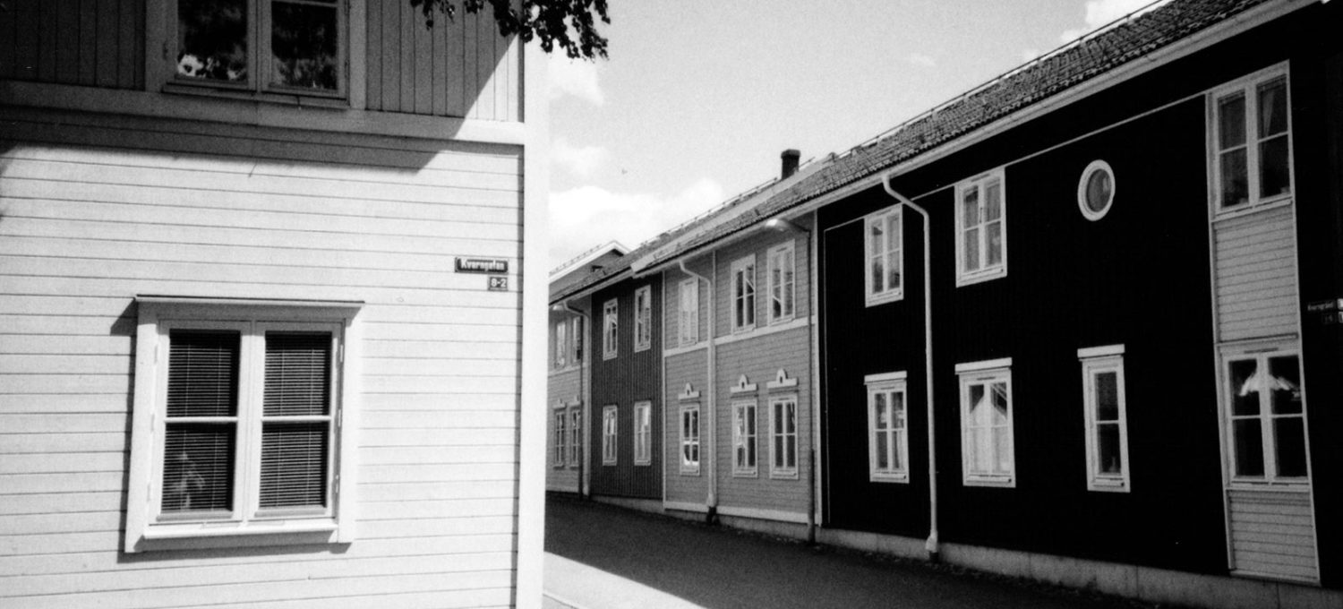Row of wooden houses