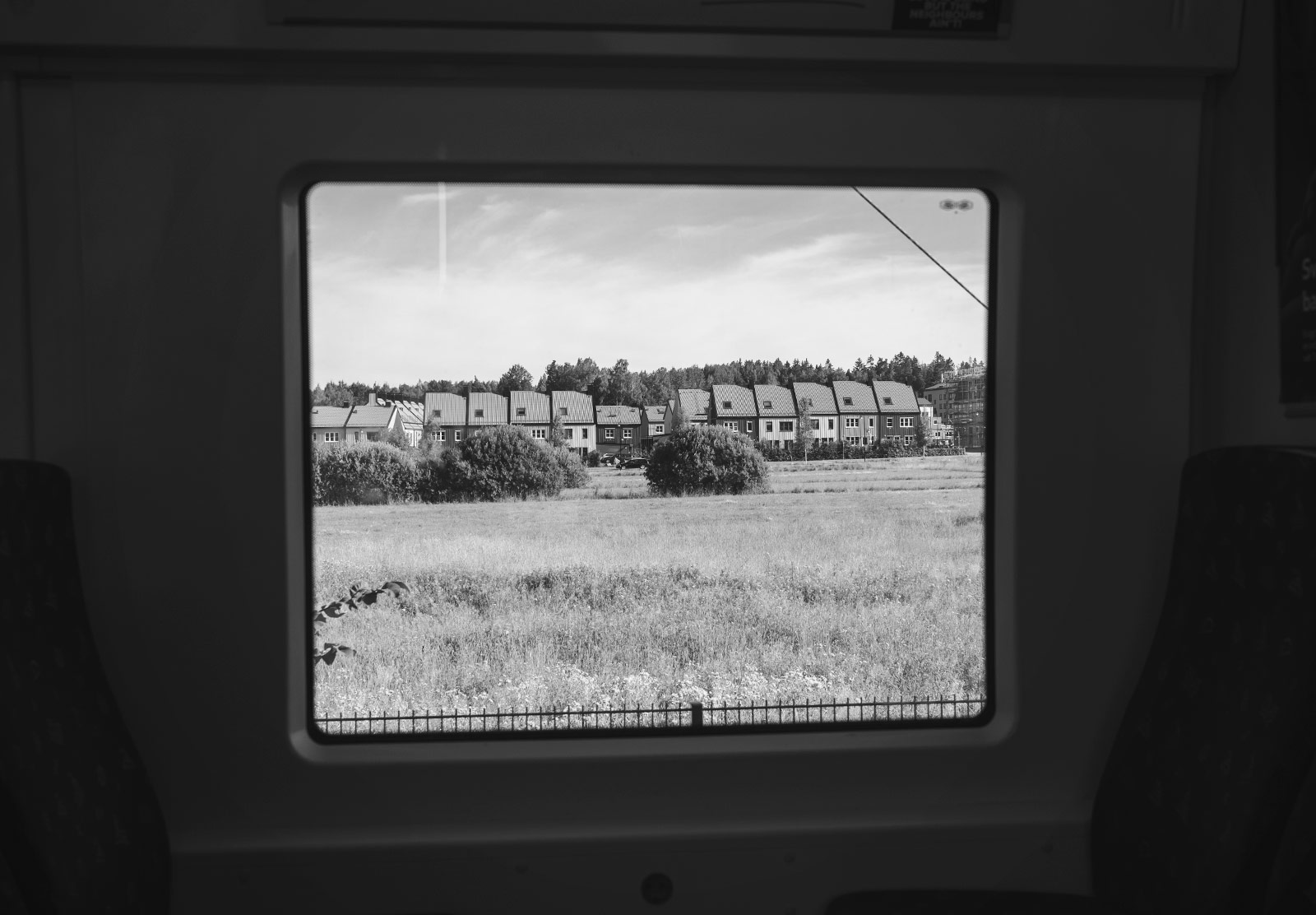 View of houses from window