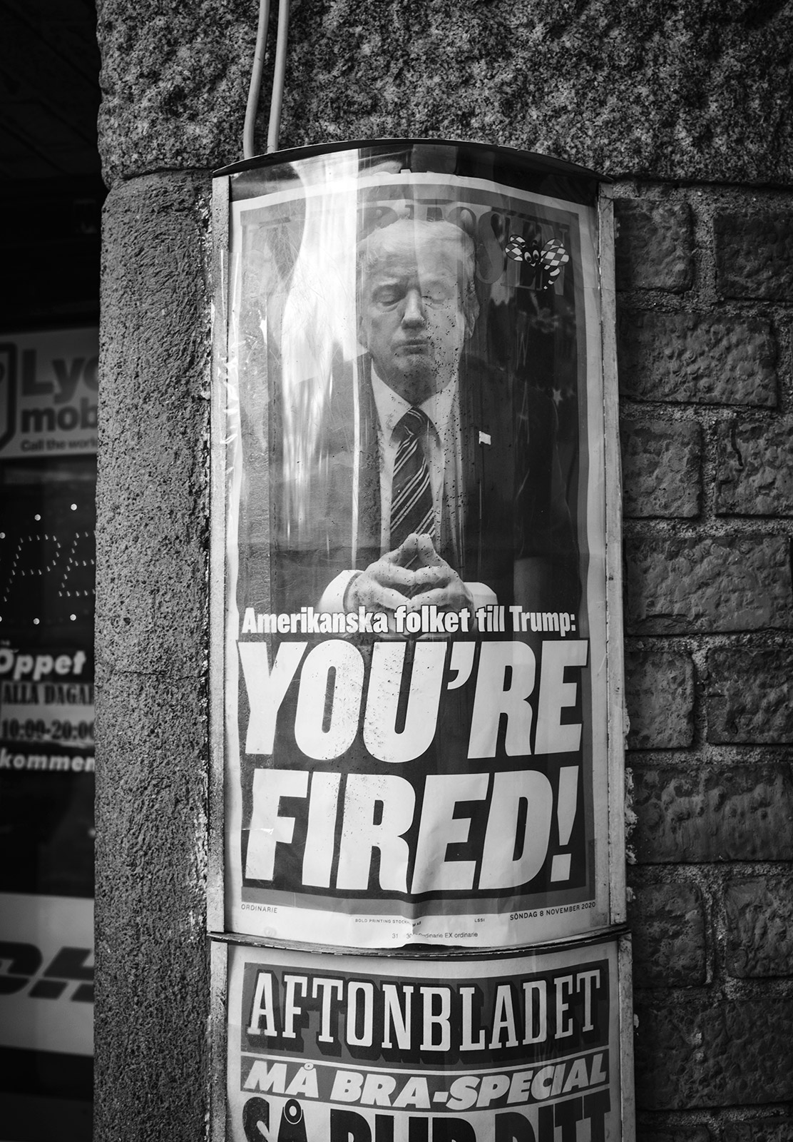 """""""You're fired"""" newspaper cover with Trump"""
