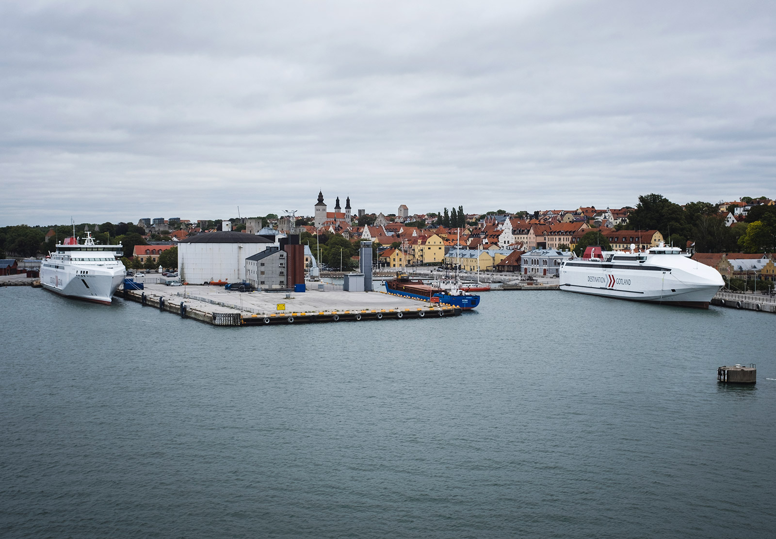 Ships in harbour