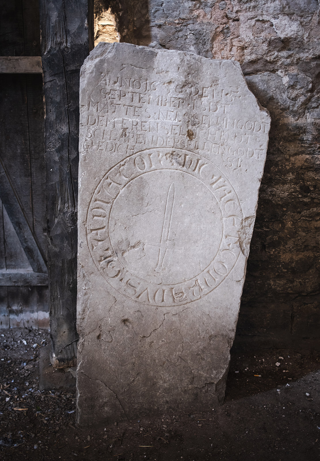 Letters on old stone